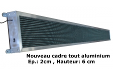 PRIX Bandeau LED 260x20cm extra long, défilant OUTDOOR bleu