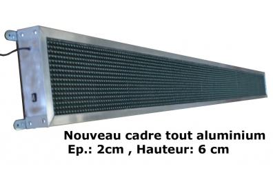 JOURNAL LUMINEUX A LED 352 x 16cm - BLEU - EXTERIEUR.