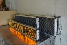 JOURNAL LUMINEUX A LEDS 128 x 16 cm - JAUNE - WIFI - INTERIEUR