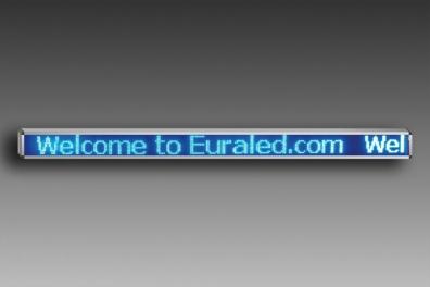 JOURNAL LUMINEUX A LED 256 x 16 cm - BLEU - EXTERIEUR