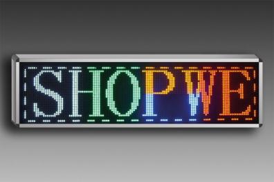 PANNEAU LED défilant 128 x 32 cm -MULTICOLORE - EXTERIEUR.