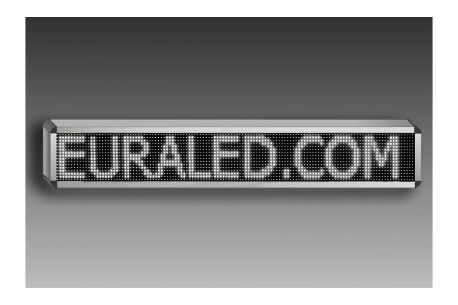 Panneau led d filant programmable 132 x 36 cm led vertes - Bandeau lumineux led interieur ...