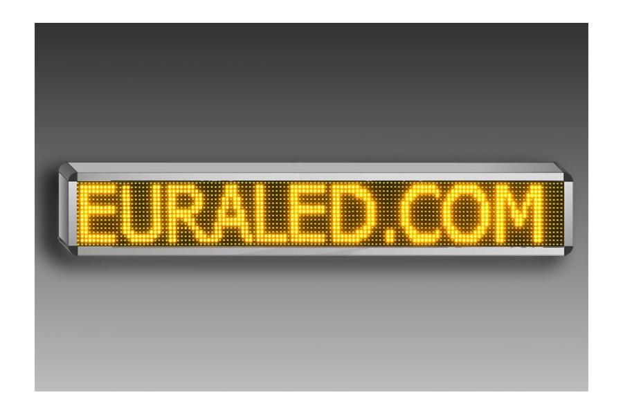 panneau led d filant programmable 132 x 36 cm led vertes. Black Bedroom Furniture Sets. Home Design Ideas
