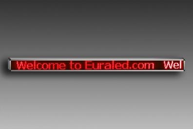 JOURNAL lumineux LED 256 x 16cm - ROUGE - EXTERIEUR