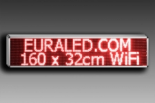 PANNEAU LED 160 x 32cm - Rouge - Intérieur