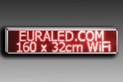 PANNEAU LED 160 x 32cm - WiFi - Rouge - Extérieur