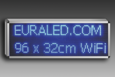 LETRERO LED AZUL WIFI 96 x 32 cm INTERIOR
