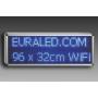 PANNEAU LED 96 x 32 cm - BLEU - WIFI - INTERIEUR