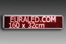 LETRERO LED ROJO 160 x 32 cm INTERIOR
