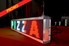 Journal Lumineux 96 x 16cm Multicolore - WiFi - Intérieur - Special Pizzeria