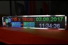 LETRERO LED MULTICOLOR 160 X 16 cm INTERIOR