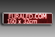 PANNEAU LED 160 x 32 cm - Rouge - Intérieur